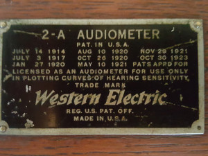 Figure 4 Western-Electric-2A-Audiometer-Name-Plate-1-300x225